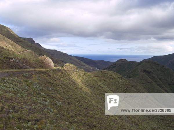 Clouds in sky over mountain range  La Gomera  Canary Islands  Spain