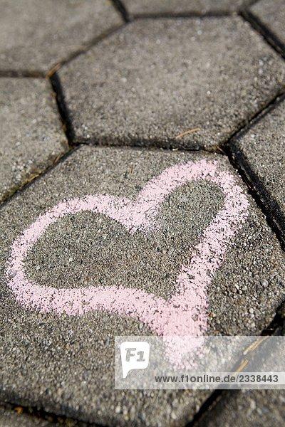 Beton,Herz,Herzchen,Hinweis,Konzept