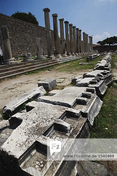 Türkei  Bergama  Pergamon  die North Galerie im Asclepion Heiligen Bereich