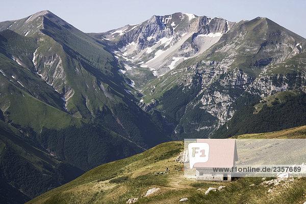 Nationalpark Wohnhaus Berg Italien Marken Schafhirte Nationalpark,Wohnhaus,Berg,Italien,Marken,Schafhirte