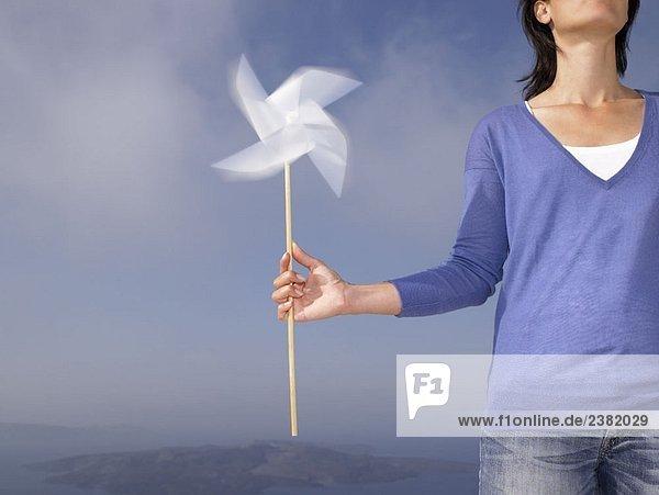Frau mit Windmühle Frau mit Windmühle