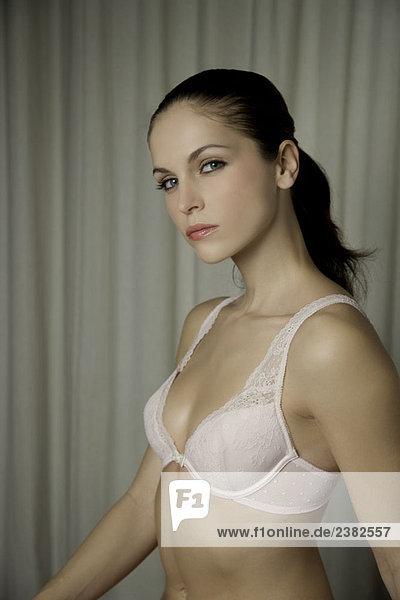 Portrait of a woman in lingerie