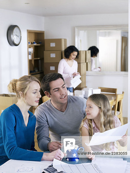 Von zu Hause aus arbeiten Familie eine Pause einlegen