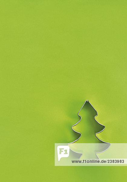 Backförmchen in Form eines Tannenbaumes
