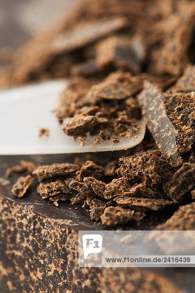 Dark chocolate  extreme close-up