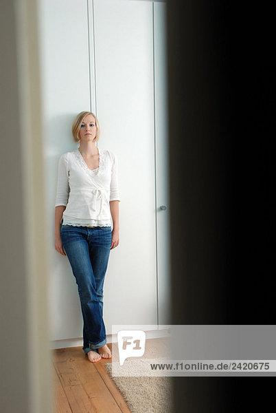 Blonde Frau  Portrait