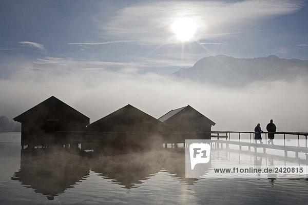 Germany  Bavaria  Murnau  Lake in winter Germany, Bavaria, Murnau, Lake in winter