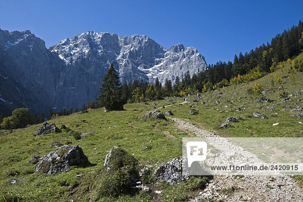 Austria  Tirol  Karwendel  Footpath