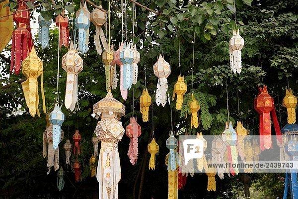 Bunte Laternen  Chiang Mai  Thailand