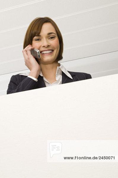 Porträt von geschäftsfrau Gespräch auf Handy