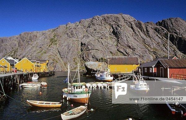 Tradition Gebäude Norwegen angeln