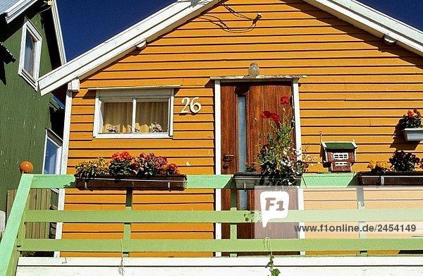 Tradition Wohnhaus Dorf Norwegen angeln Reine