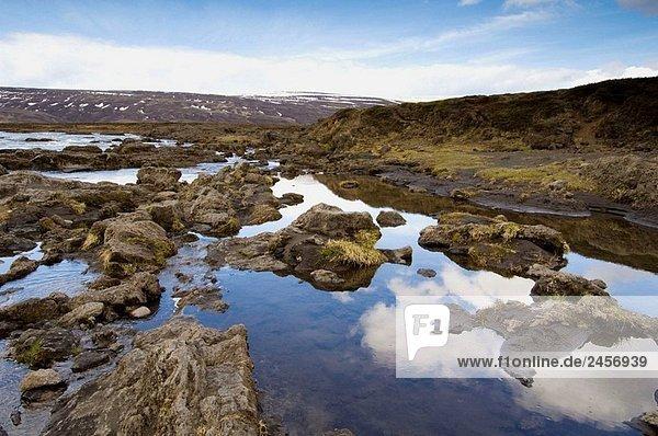 Godafoss waterfalls  Iceland.