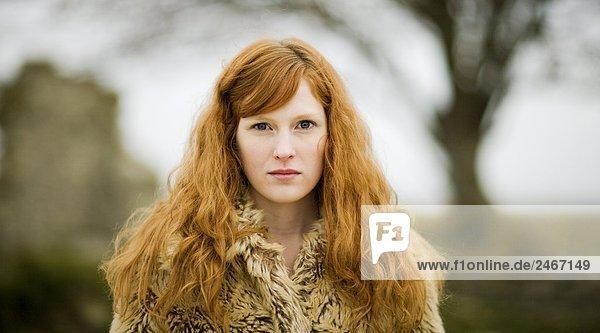 Portrait eines jungen Mädchens skandinavischen Schweden.