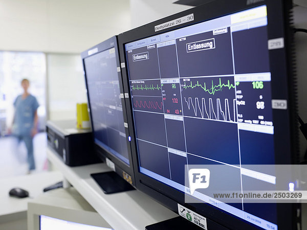 Computer  die während der Operation  die Herzfrequenz verwendet