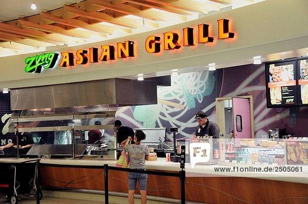Fast-Food-Gericht am Flughafen Orlando Florida