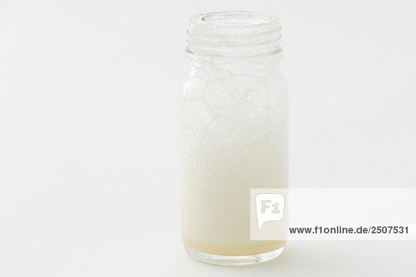 Glas mit Soap suds Glas mit Soap suds