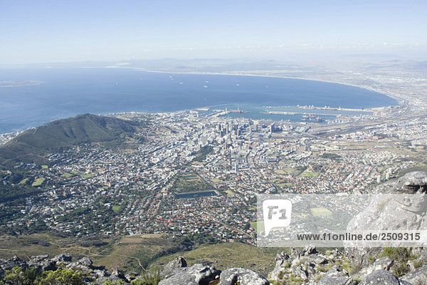 South Africa  Cape Town  view from Table Mountain
