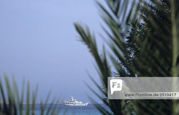 Italy  Sardinia  Yacht on sea