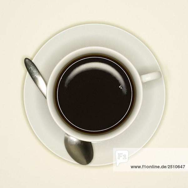 Tasse Kaffee  erhöhte Ansicht