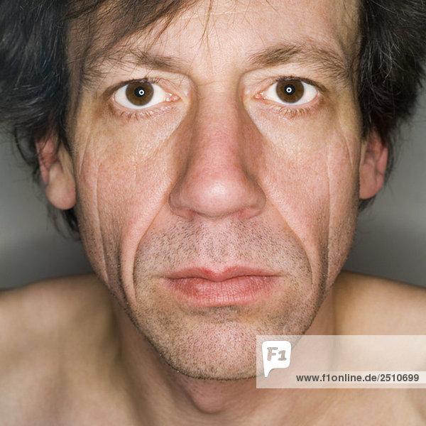 Männergesicht  Nahaufnahme  Portrait