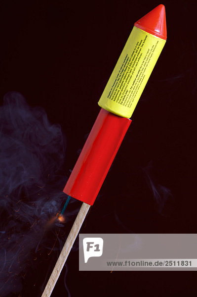 Feuerwerksrakete  Nahaufnahme