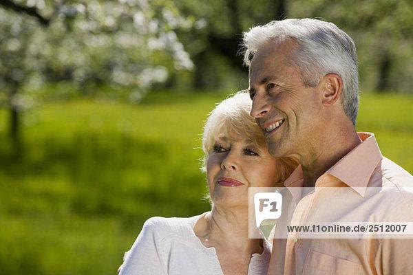 Germany  Baden Württemberg  Tübingen  Senior couple  smiling  portrait  close-up