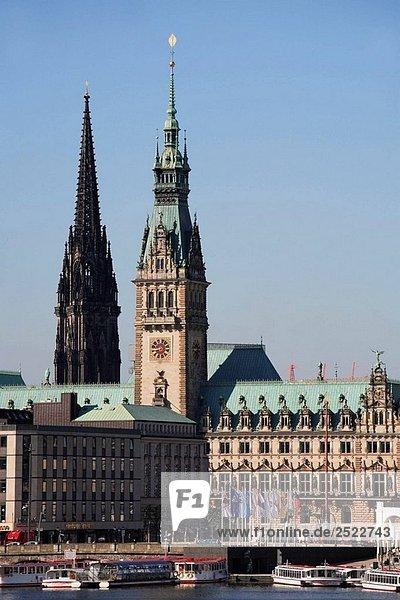 Deutschland  Hamburg  Skyline  Rathaus  Rathaus