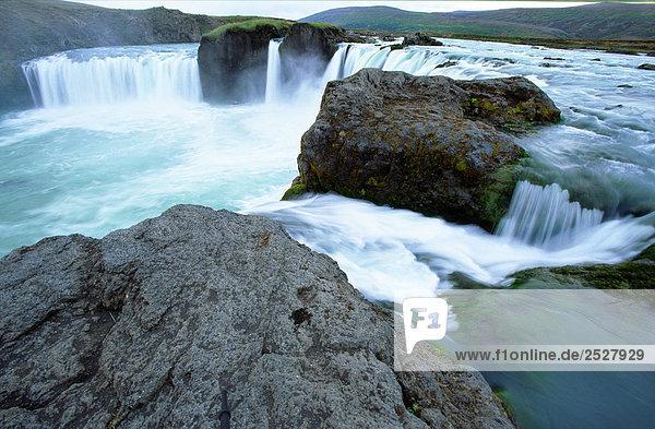 Godafoss Waterfall  Northern Iceland.