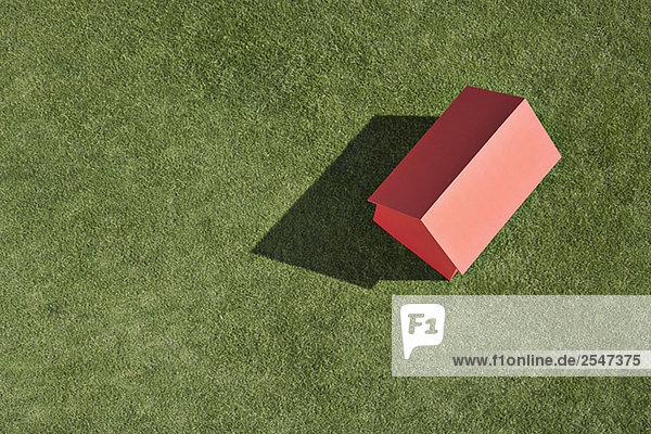 Modellhaus klein Gras