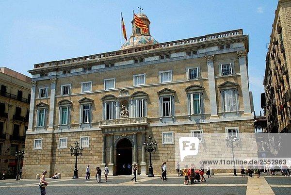 Palau De La Generalitat  Plaça Sant Jaume  Barcelona  Katalonien  Spanien