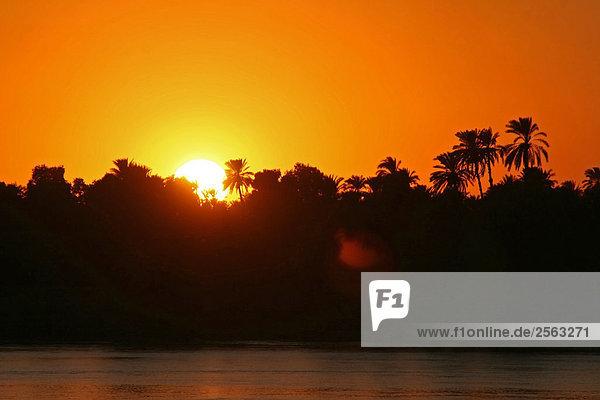 Ägypten - Kom Ombo - Sonnenuntergang