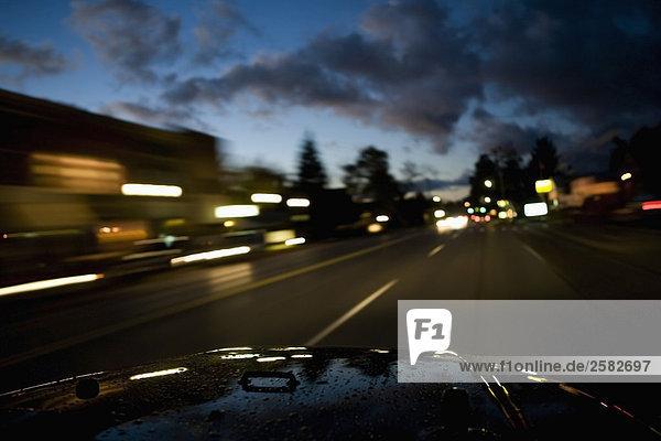 Weg von innerhalb der Auto fahren