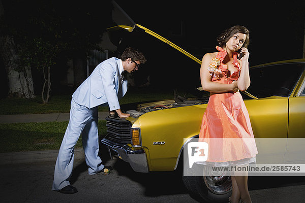 Auto Beruf zerbrochen Hilfe Abschlussball
