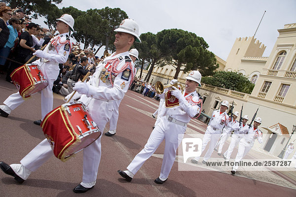 Monaco  Changing of the guard in front of Prince's Palace