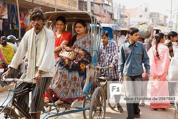 Rikscha  Varanasi  Uttar Pradesh  Indien