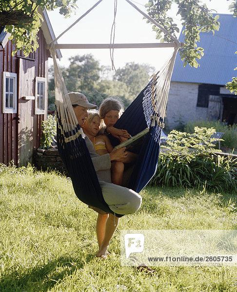 Hängematte Tochter Mutter - Mensch Schweden