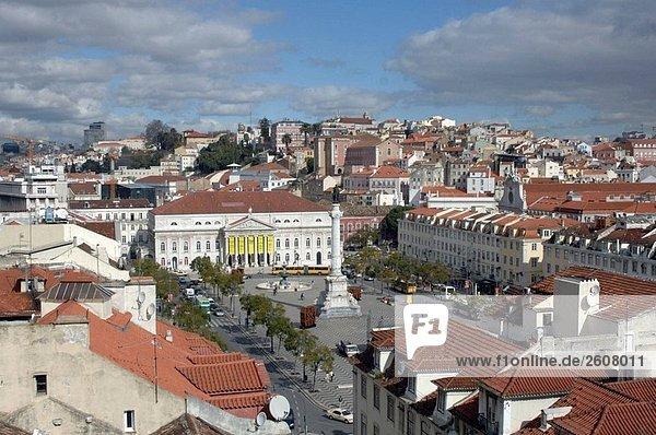 Rossio Platz. Lissabon. Portugal