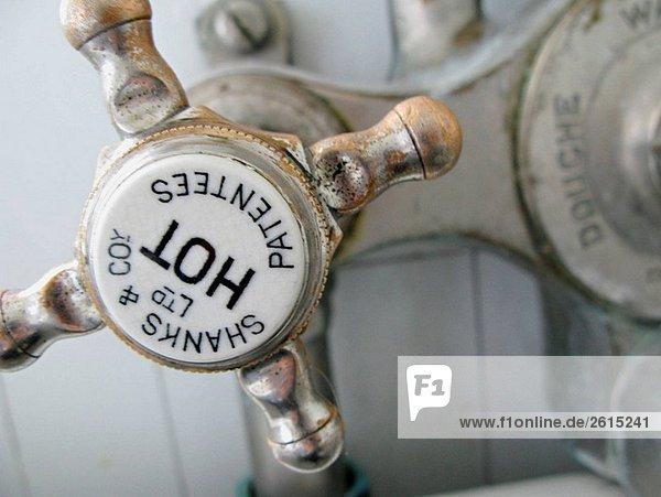 Heißes Wasser Wasserhahn. England  UK