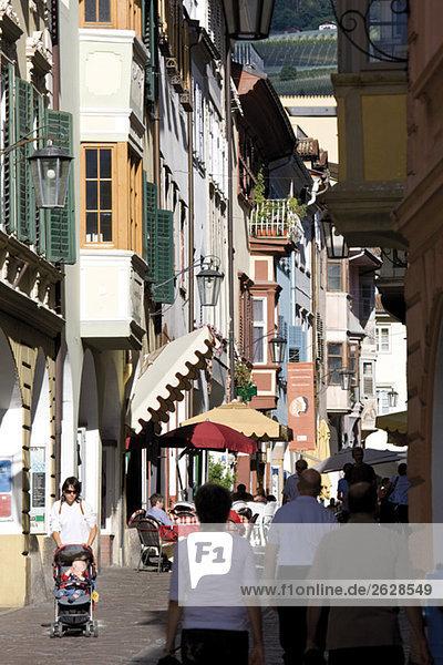 Italy  South Tyrol  Meran  Old Town  Laubengasse