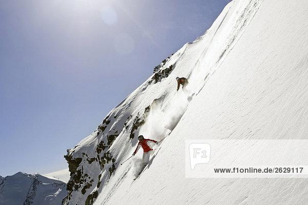 Italien  Tirol  Monte Rosa  Freeride  Pärchenabfahrt
