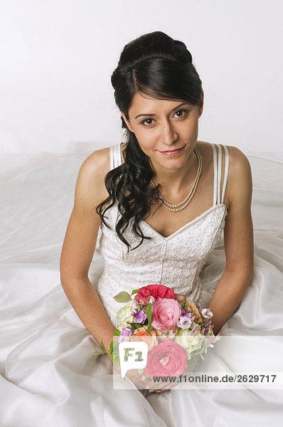 Junge Braut  erhöhte Ansicht