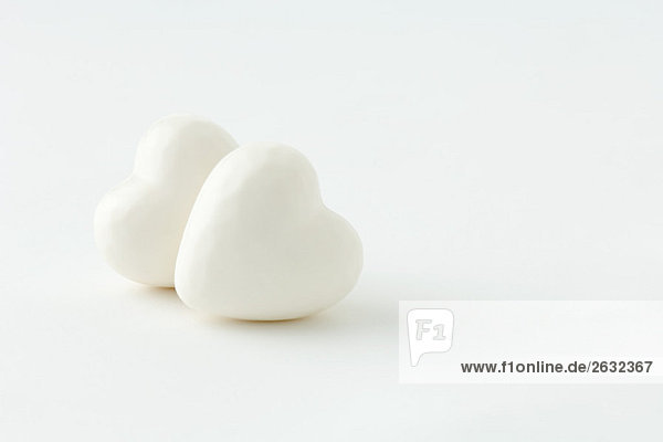 Pair of heart-shaped objects