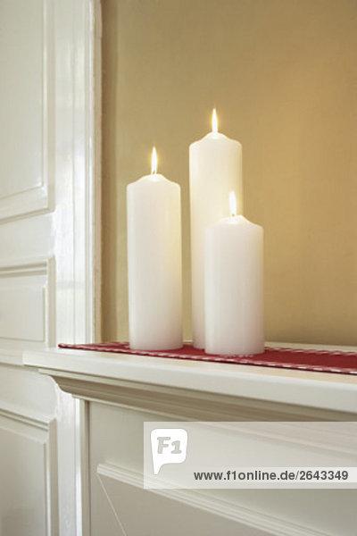 verbrennen Kerze 3 zu Hause