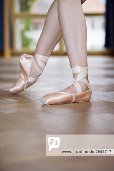 Nahaufnahme der Ballett-Tänzerin