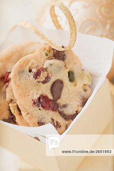 Chocolate Chip Cookies mit Cranberries zum Verschenken