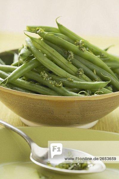 Grüne Bohnen mit Kräutern