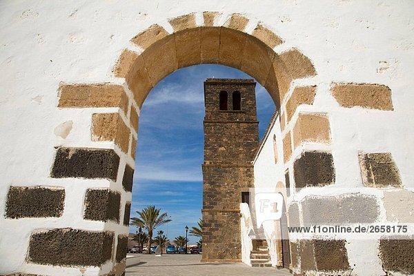 Spanien  Kanarische Inseln  Fuerteventura  La Oliva Kirche