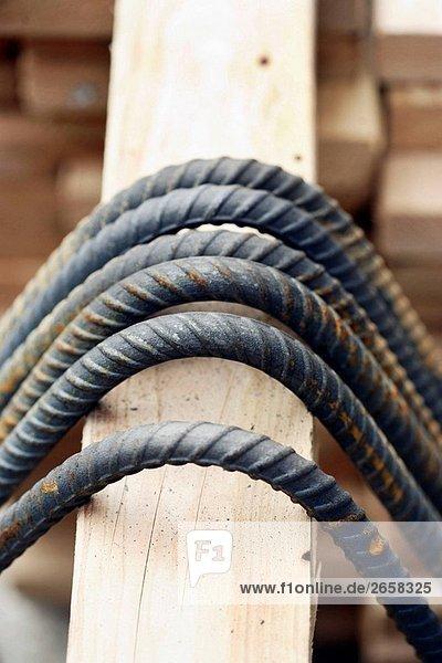 beugen über Holz 6 verbogen Stahl Ohrstecker