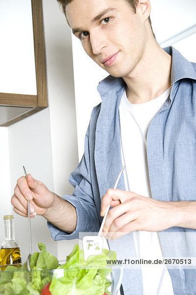 Mann Preapering Salat